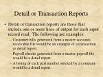 detail or transaction reports
