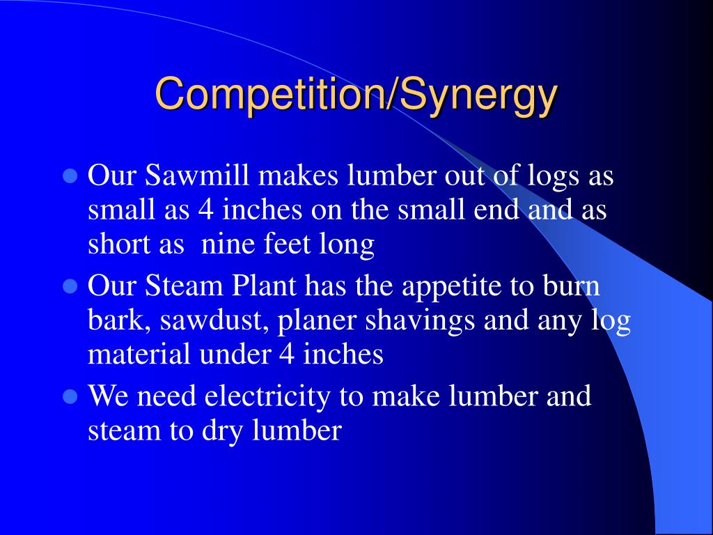 Competition/Synergy