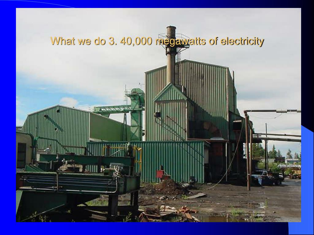What we do 3. 40,000 megawatts of electricity