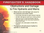 obstructions and damage to fire hydrants and mains
