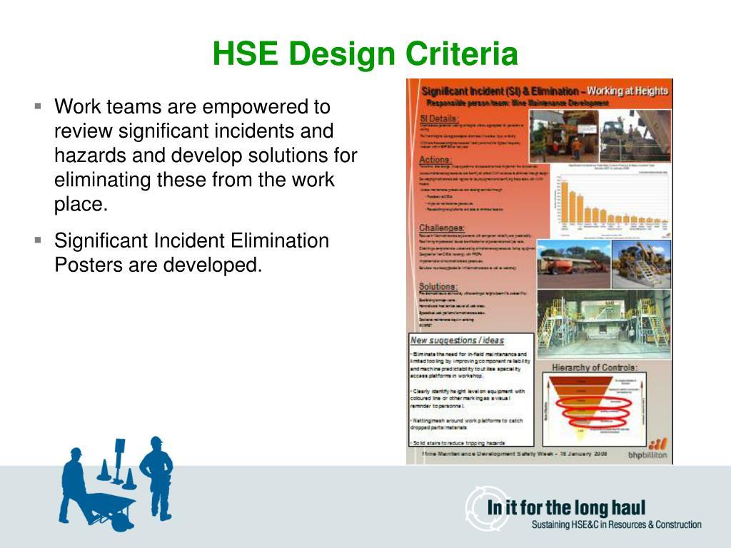 HSE Design Criteria