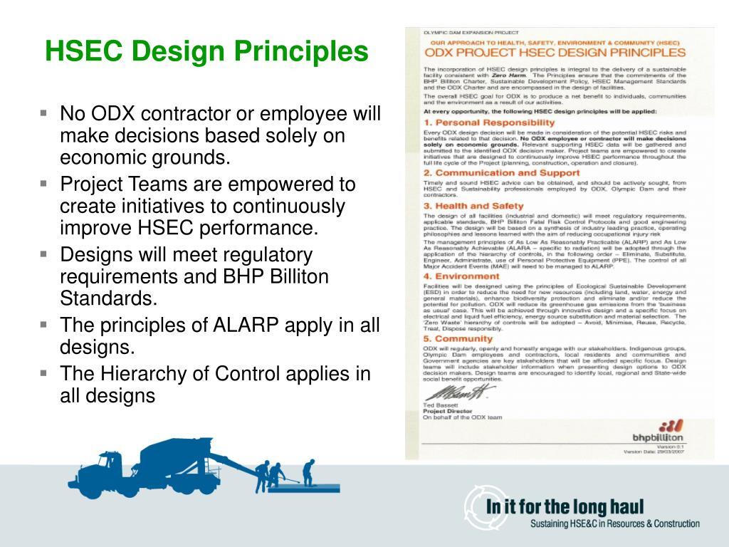 HSEC Design Principles
