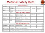 material safety data
