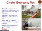 on site emergency plan