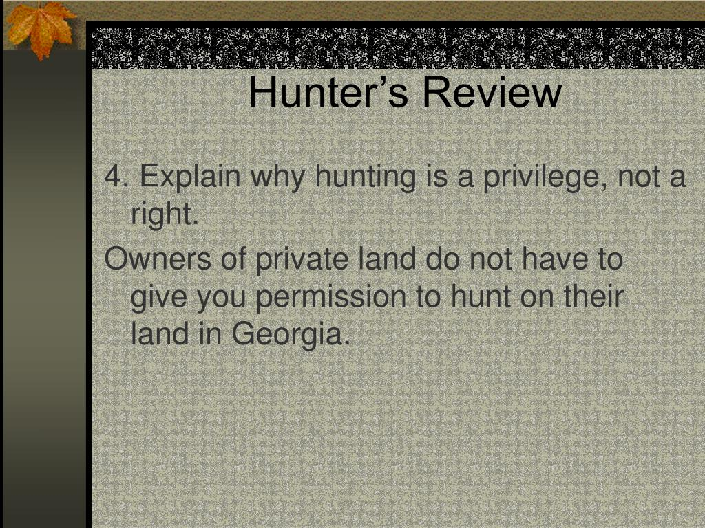 Hunter's Review