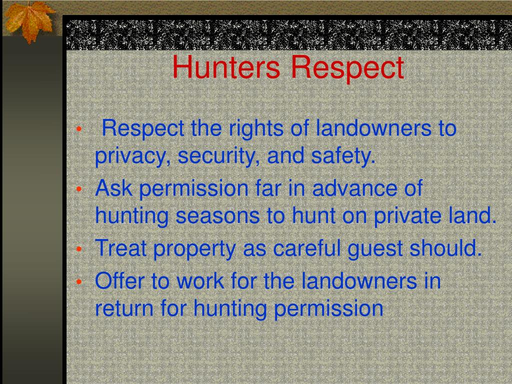 Hunters Respect