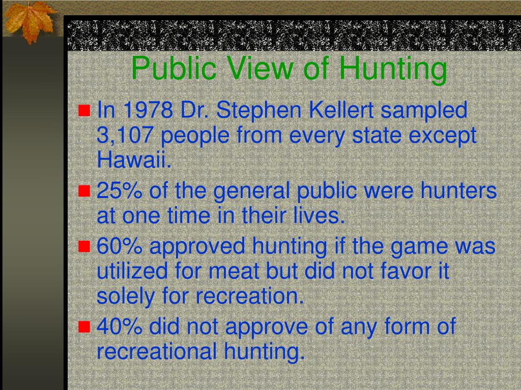 Public View of Hunting
