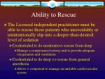 ability to rescue