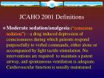 jcaho 2001 definitions