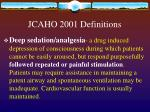 jcaho 2001 definitions8