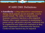 jcaho 2001 definitions9