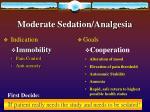 moderate sedation analgesia