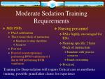 moderate sedation training requirements
