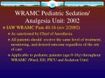 wramc pediatric sedation analgesia unit 2002
