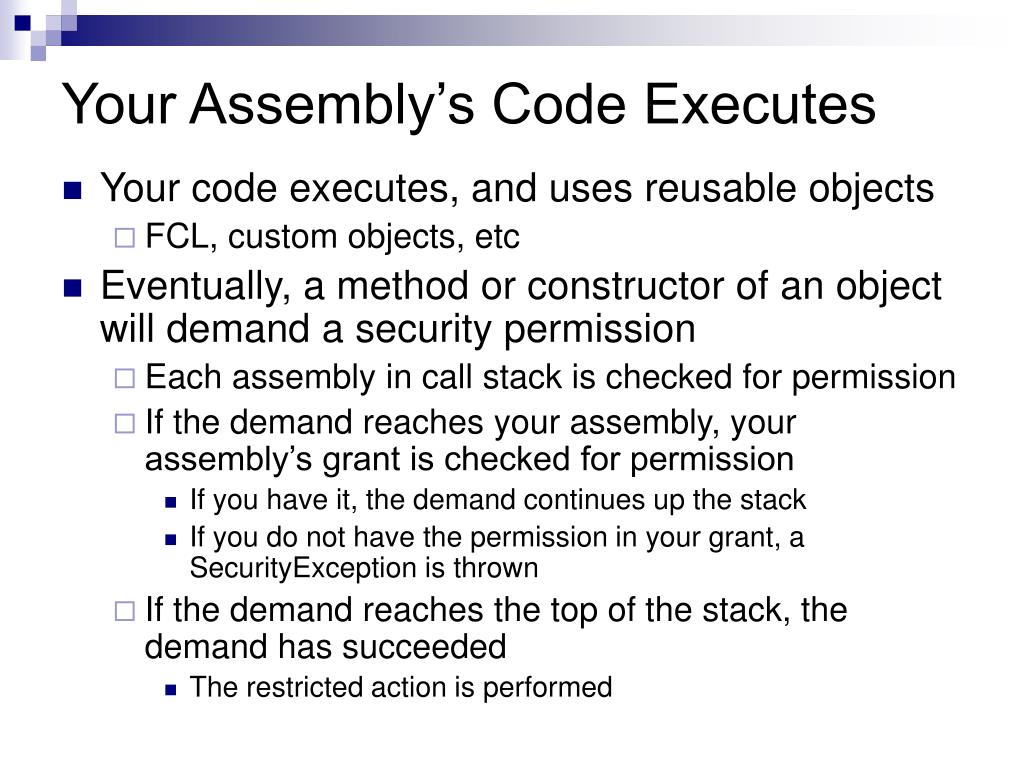Your Assembly's Code Executes