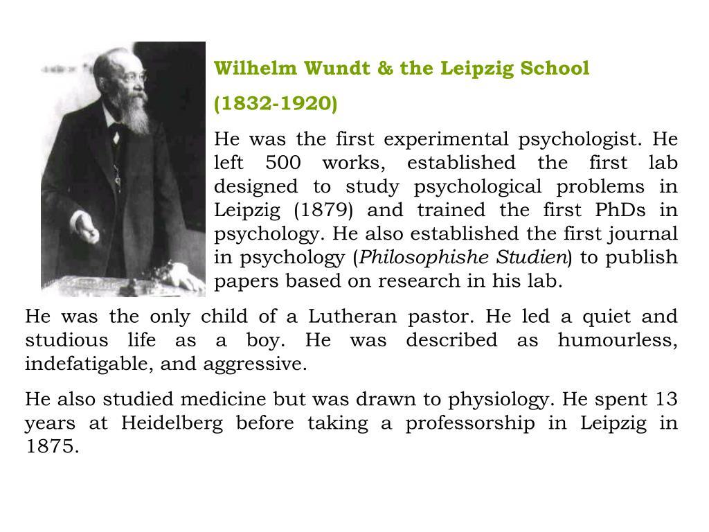 Wilhelm Wundt & the Leipzig School