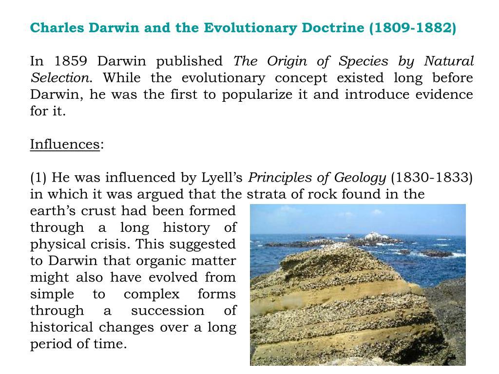 Charles Darwin and the Evolutionary Doctrine (1809-1882)