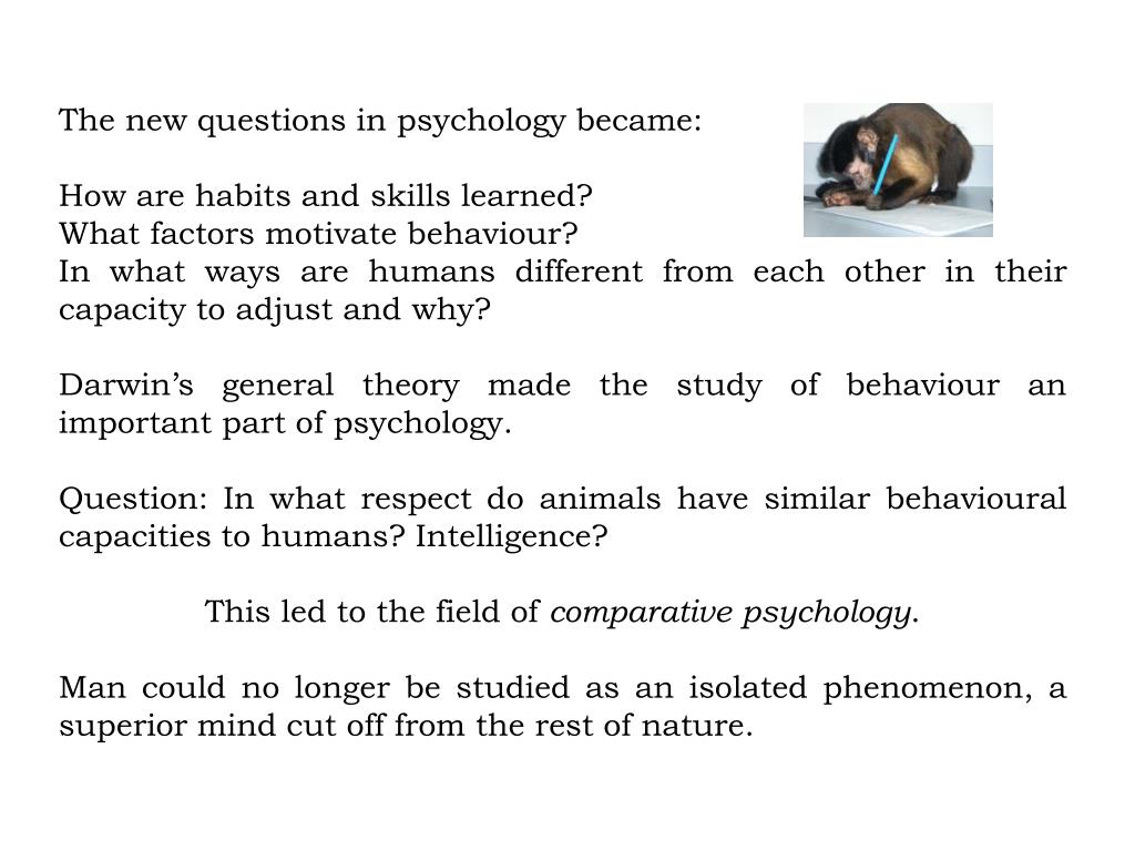The new questions in psychology became: