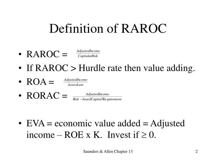 Definition of raroc