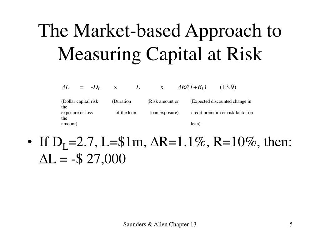 The Market-based Approach to Measuring Capital at Risk