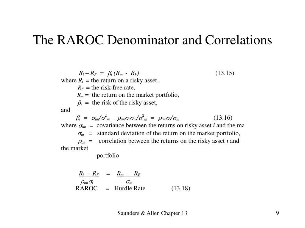 The RAROC Denominator and Correlations