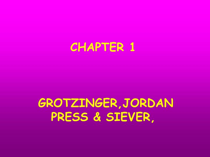 Chapter 1 grotzinger jordan press siever