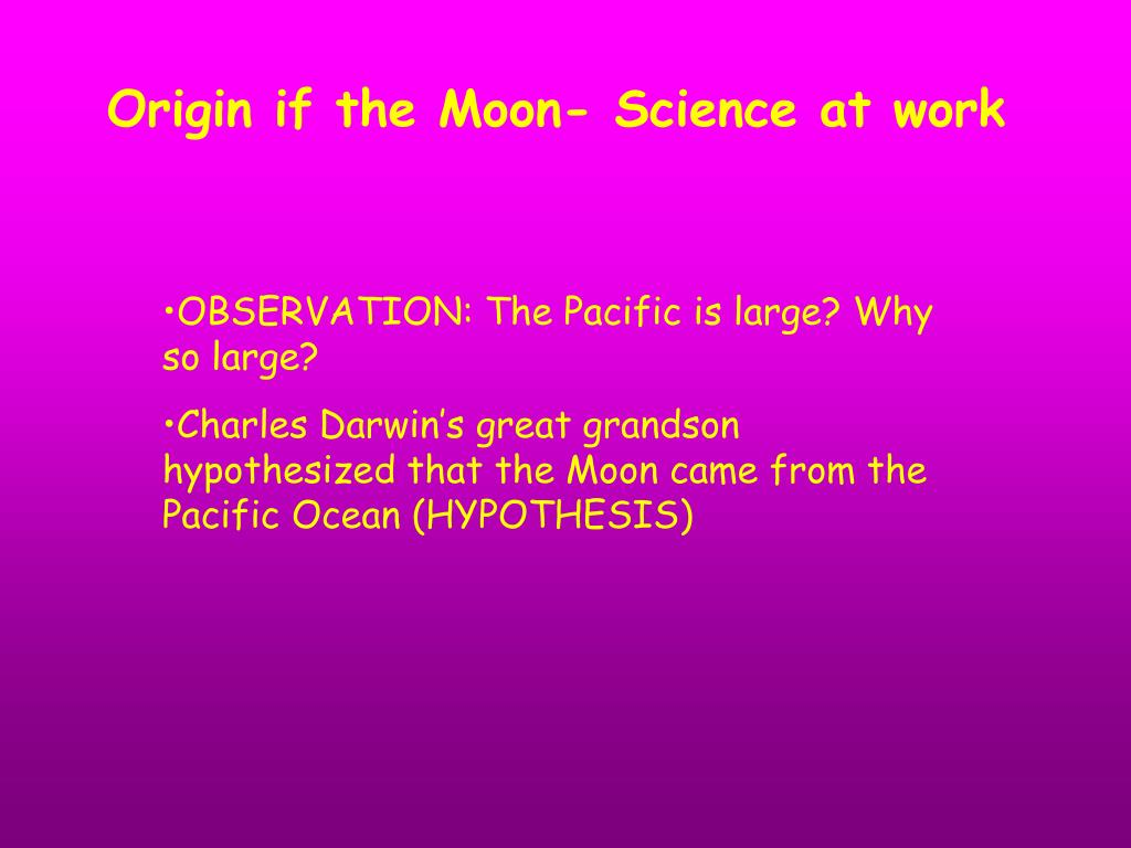 Origin if the Moon- Science at work
