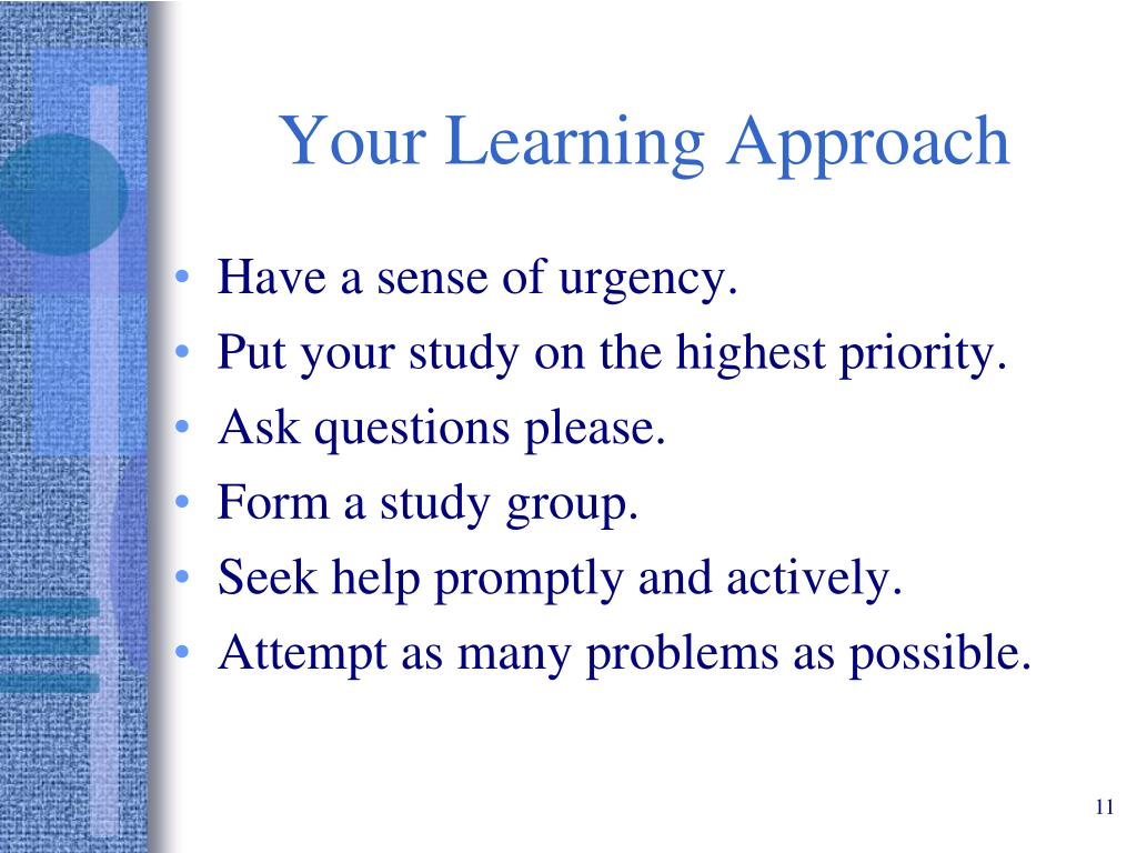 Your Learning Approach