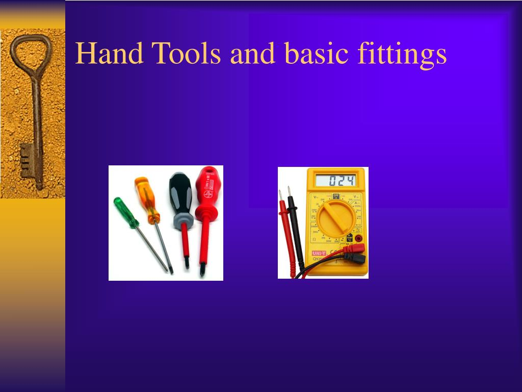 hand tools and basic fittings l.