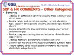sdp hr comments other categories22
