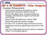 sdp hr comments other categories25