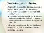toxics analysis hydrazine