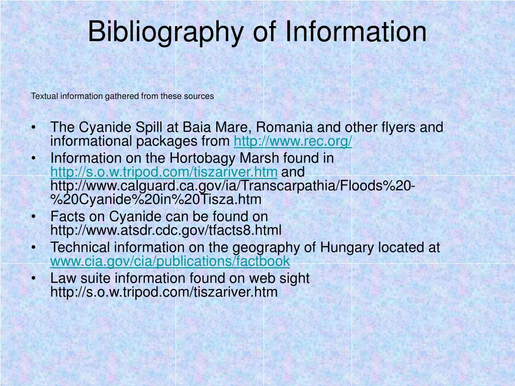 Bibliography of Information