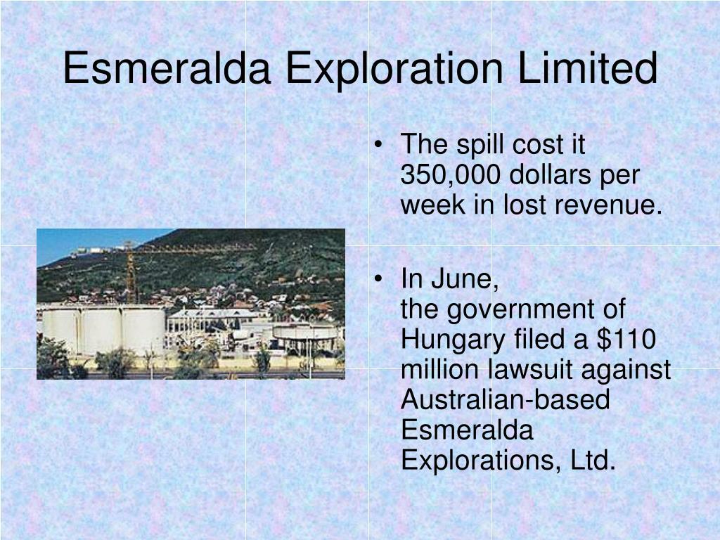 Esmeralda Exploration Limited