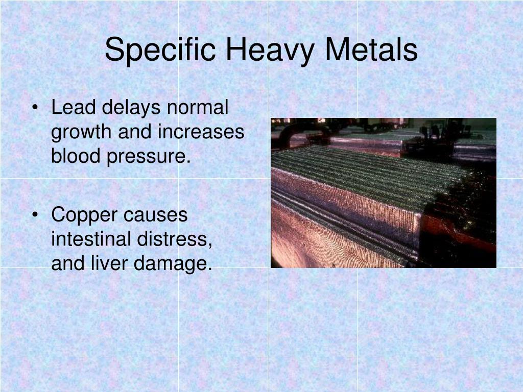 Specific Heavy Metals