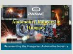 automotive industry in hungary