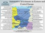 automotive investments in eastern and central europe