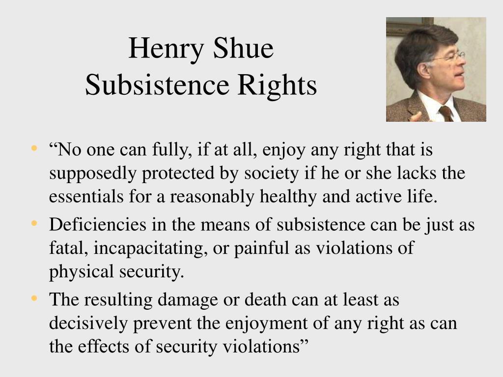 Henry Shue