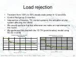 load rejection