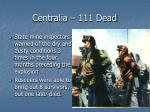 centralia 111 dead