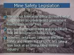 mine safety legislation