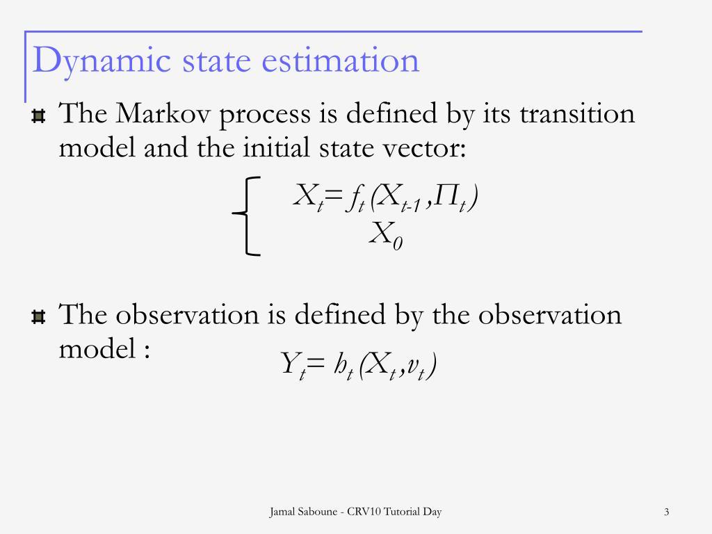 Dynamic state estimation