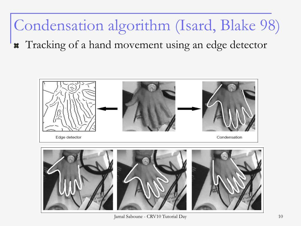 Condensation algorithm (Isard, Blake 98)