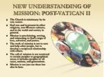 new understanding of mission post vatican ii