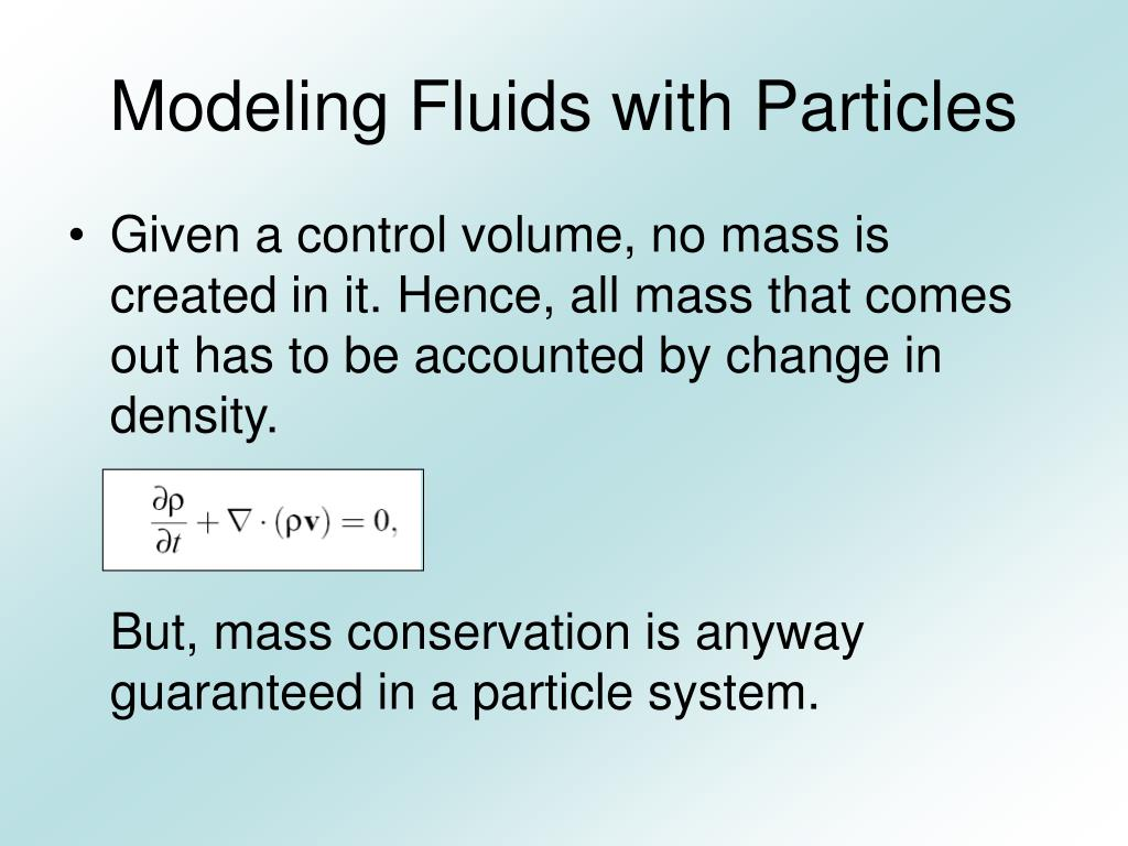 Modeling Fluids with Particles