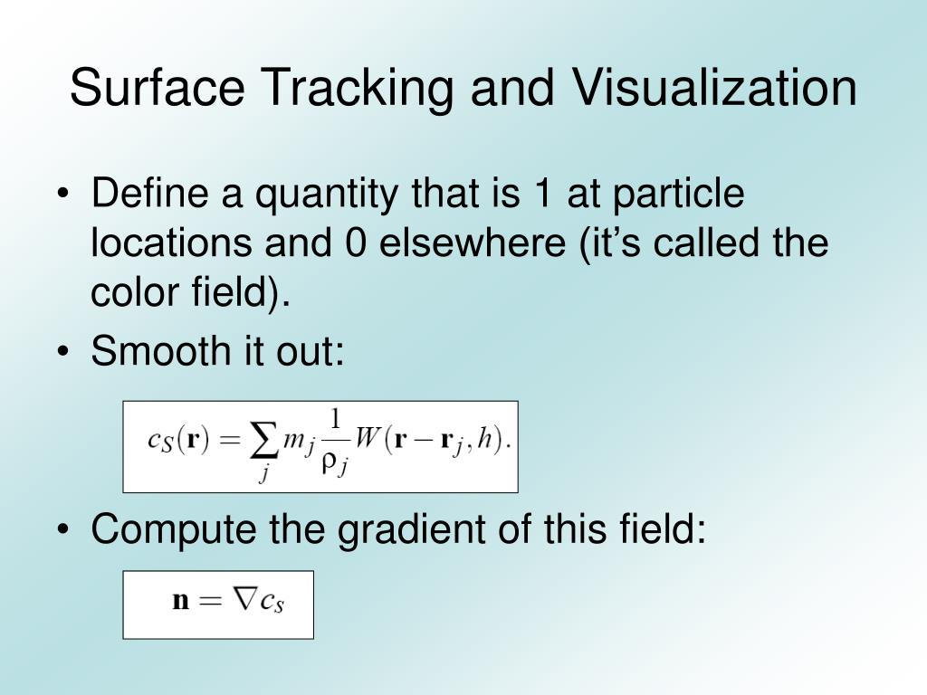 Surface Tracking and Visualization