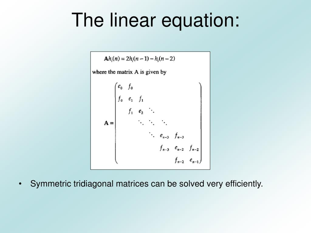 The linear equation: