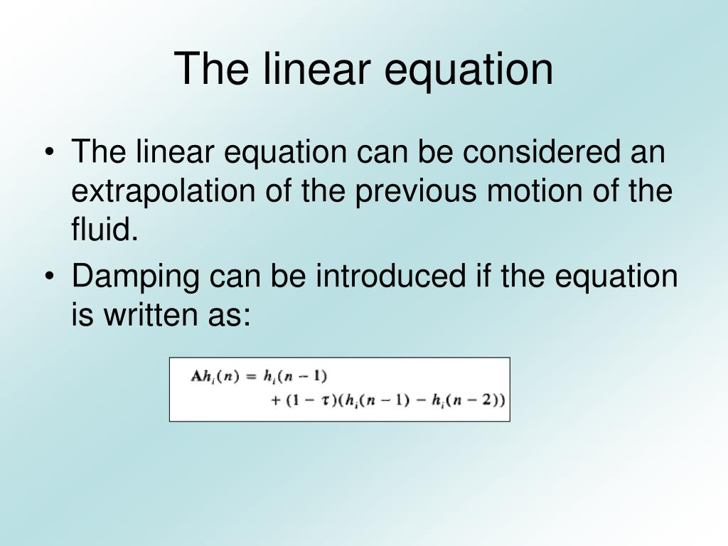 The linear equation