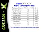 x micro xdvb tau power consumption test