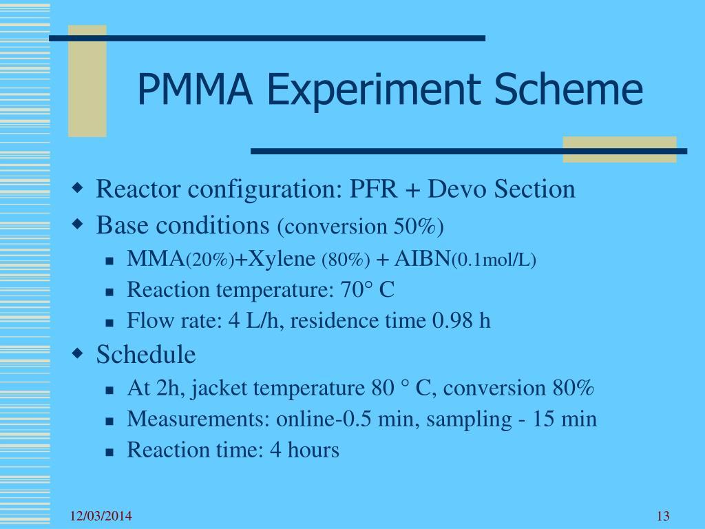 PMMA Experiment Scheme